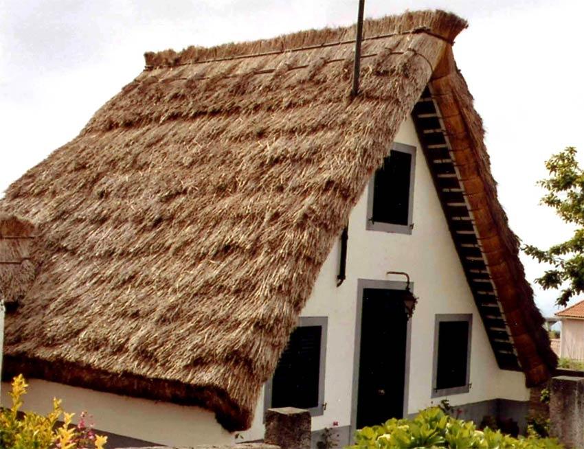 Vida en la tierra c mo hacer un tejado de paja - Estructura tejado madera ...